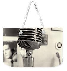 Vintage Microphone Sun Studio Weekender Tote Bag by Dan Sproul