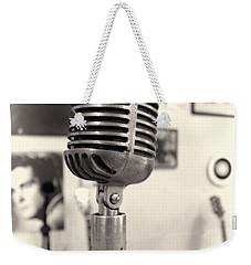 Vintage Microphone Sun Studio Weekender Tote Bag