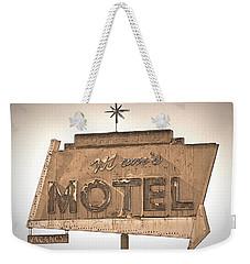 Vintage Motel Sign Weekender Tote Bag