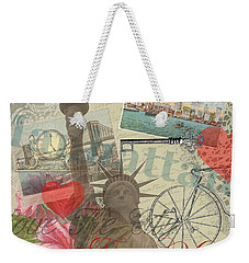Vintage New York City Collage Weekender Tote Bag