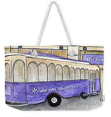Vintage Nyu Trolley Weekender Tote Bag by AFineLyne