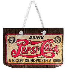Vintage Pepsi Cola Ad Weekender Tote Bag by Les Palenik