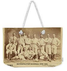 Vintage Photo Of Metropolitan Baseball Nine Team In 1882 Weekender Tote Bag