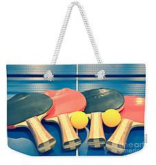 Vintage Ping-pong Bats Table Tennis Paddles Rackets Weekender Tote Bag