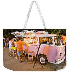 Vintage Pink Volkswagen Bus Weekender Tote Bag