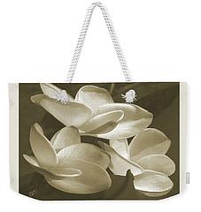 Vintage Plumeria Trio Weekender Tote Bag