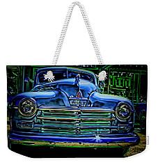 Vintage Plymouth Navy Metalic Art Weekender Tote Bag