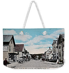 Vintage Postcard Of Wolfeboro New Hampshire Art Prints Weekender Tote Bag by Valerie Garner