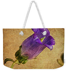 Vintage Purple Flower Weekender Tote Bag