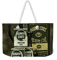 Vintage Quaker State Motor Oil Weekender Tote Bag