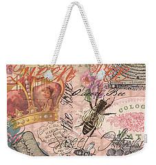 Vintage Queen Bee Collage  Weekender Tote Bag