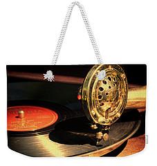 Vintage Record Player Weekender Tote Bag by Jill Battaglia