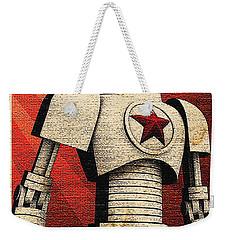Vintage Russian Robot Poster Weekender Tote Bag by R Muirhead Art