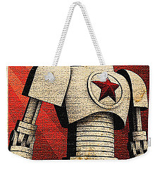 Vintage Russian Robot Poster Weekender Tote Bag