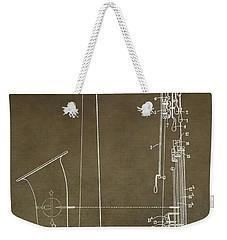 Vintage Saxophone Patent Weekender Tote Bag by Dan Sproul