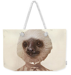 Vintage Sloth Girl Portrait Weekender Tote Bag