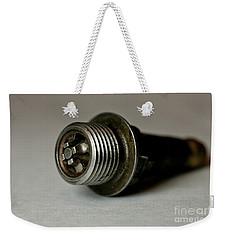 Vintage Spark Plug  Weekender Tote Bag by Wilma  Birdwell
