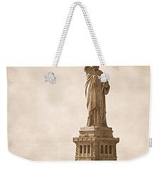 Vintage Statue Of Liberty Weekender Tote Bag by RicardMN Photography