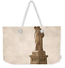 Vintage Statue Of Liberty Weekender Tote Bag