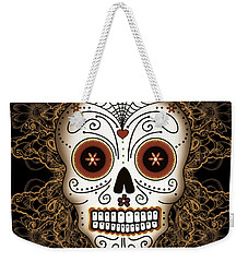 Vintage Sugar Skull Weekender Tote Bag by Tammy Wetzel