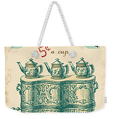 Vintage Tea Time Sign Weekender Tote Bag by Jean Plout