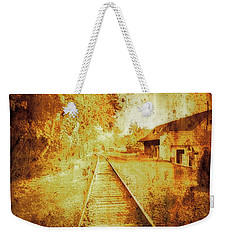 Vintage  Railway Portland Pa Usa Weekender Tote Bag