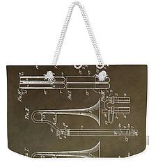 Vintage Trombone Patent Weekender Tote Bag