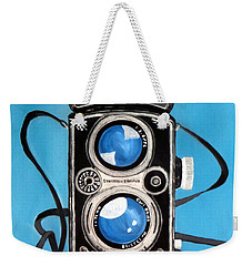Vintage View Camera Weekender Tote Bag