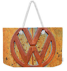 Vintage Volkswagen Bus Logo Weekender Tote Bag by Catherine Sherman