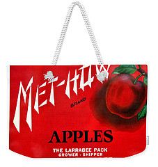 Vintage Washington State Apple Warehouse Label Met-how Art Prints Weekender Tote Bag