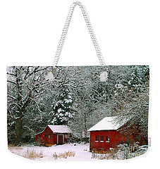 Vintage Winter Barn  Weekender Tote Bag
