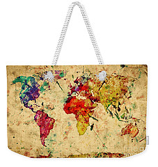 Vintage World Map Weekender Tote Bag