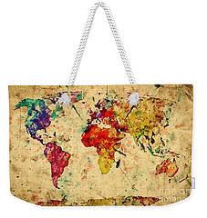 Vintage World Map Weekender Tote Bag