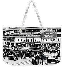 Vintage Wrigley Field Weekender Tote Bag