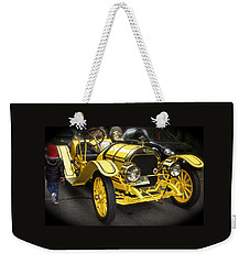 Vintage Yellow Roadster Weekender Tote Bag