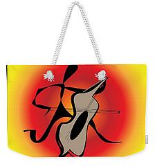 Weekender Tote Bag featuring the digital art Viola by Iris Gelbart