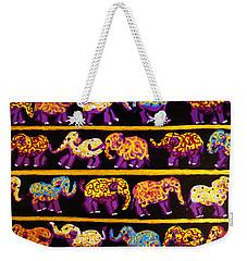 Violet Elephants Weekender Tote Bag