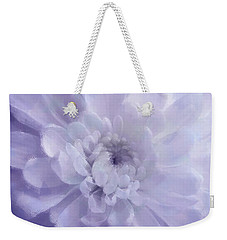Violet Mum Luminous Painted Blossom Weekender Tote Bag