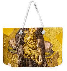 Virgin Mary With Baby Jesus Mosaic Weekender Tote Bag