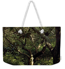 Weekender Tote Bag featuring the photograph Virginia Dare Statue by Greg Reed