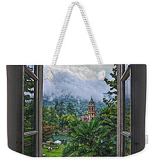 Weekender Tote Bag featuring the photograph Vision Through The Window by Hanny Heim