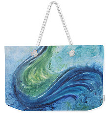 Peacock Vision In The Mist Weekender Tote Bag