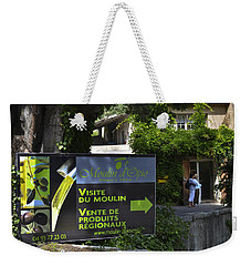 Weekender Tote Bag featuring the photograph Visite Du Moulin by Allen Sheffield