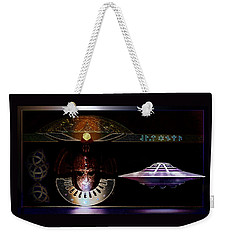 Weekender Tote Bag featuring the digital art Visitor To Atlantis by Hartmut Jager