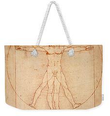 Vitruvian Man Weekender Tote Bag