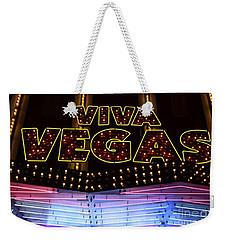 Viva Vegas Neon Weekender Tote Bag