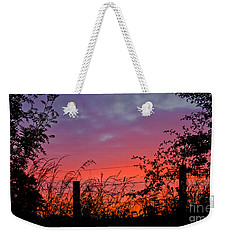 Vivid Sunset Weekender Tote Bag by Liz  Alderdice