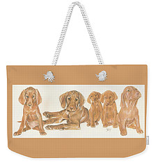 Vizsla Puppies Weekender Tote Bag
