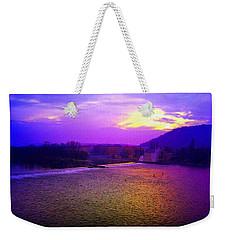 Vltava River Prague Sunset Weekender Tote Bag