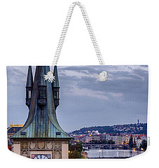 Vltava River In Prague Weekender Tote Bag